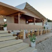 Bamboo beach bar restaurant